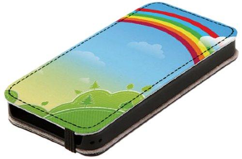 Diabloskinz L0081-0007-0018 Leder Schutzhülle für Apple iPhone 5/5S untroddon Woods