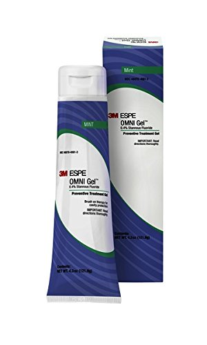 3M ESPE 12106M OMNI Gel 0.4% Stannous Fluoride Brush On Gel Refill, Mint - Fluoride Trays