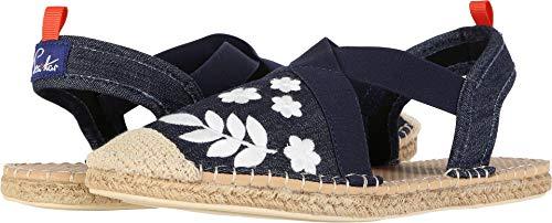 Sea Star Beachwear Women's Seafarer Slingback Water Shoe Dark Denim/Embroidery 10 M ()