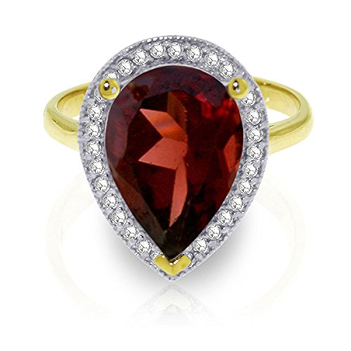 ALARRI 4.06 Carat 14K Solid Gold Shade Of Love Garnet Diamond Ring With Ring Size 8 by ALARRI (Image #3)