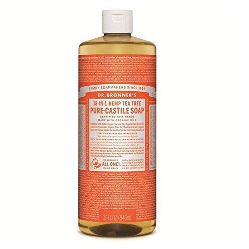 のブロナーオーガニックティーツリーカスティーリャ液体石鹸946ミリリットル x4 - Dr Bronner Organic Tea Tree Castile Liquid Soap 946ml (Pack of 4) [並行輸入品] B0727R5L6X
