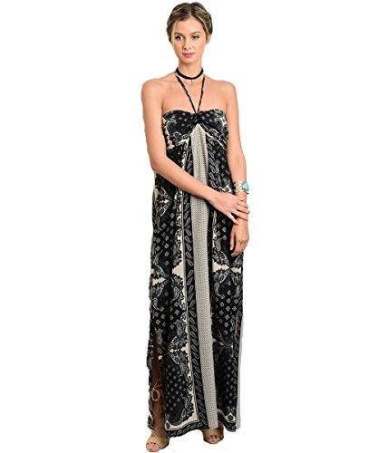 isley Print Halter Flowy Maxi Dresses (Paisley Halter Maxi Dress)