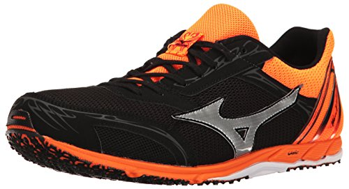 Mizuno Men's Wave EKIDEN 11 Track Shoe Black/Clownfish 8 D US