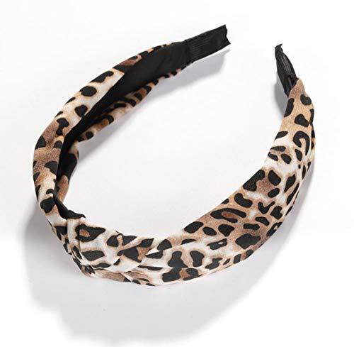 Print Leopard Headband - Leopard Print Top-knot Headband (Brown)