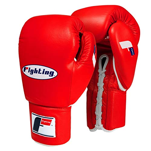 Fighting Sports Fury Professional Lace Training Gloves, Red, 16 ()