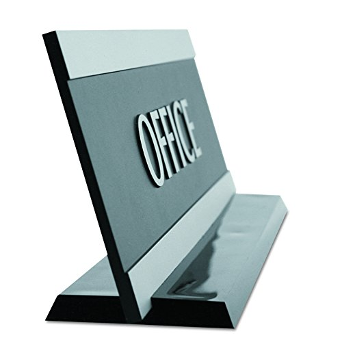 Headline Sign 4762 Century Series Office Sign, OFFICE, 9 x 3, Black/Silver by Headline Sign (Image #1)