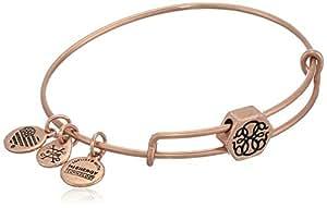 Alex and Ani Women's Path of Life Symbol Bead Charm Bangle, Rafaelian Rose Gold
