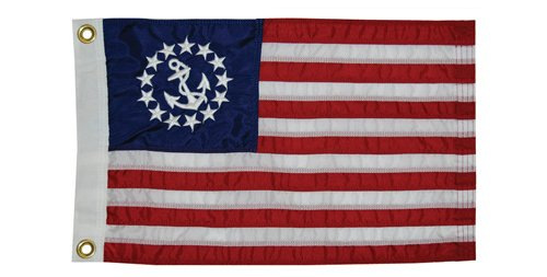 Taylor Made Products 8130 US Yacht Ensign Sewn Boat Flag, 20 inch x 30 (Ensigns Boat)