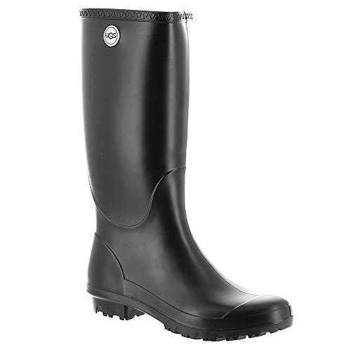 UGG Women's Shelby Matte Rain Boot, Black, 7 M US