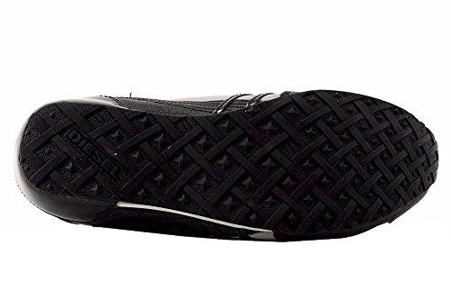 Diesel Heren Harold Solar Leather Fashion Sneaker Paloma / Zwart