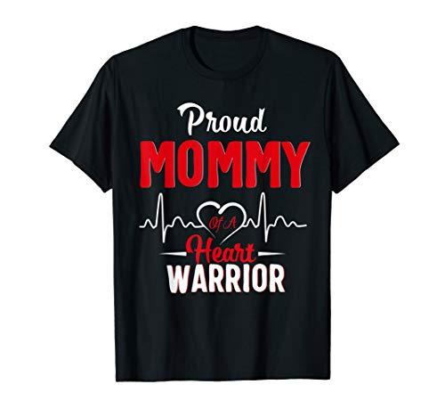 (Proud MOMMY of a Heart Warrior CHD Awareness shirt gift )