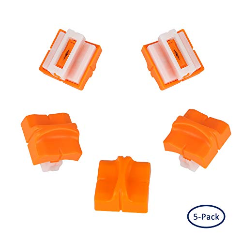 Carriage Blade - Simpleness Slide Blade Carriage Paper Cutter Replacement Cutting Blades with Safe Automatic Security Safeguard Design Orange Trimmer 5PCS