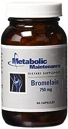 Metabolic Maintenance - Bromelain 750 mg 60 caps