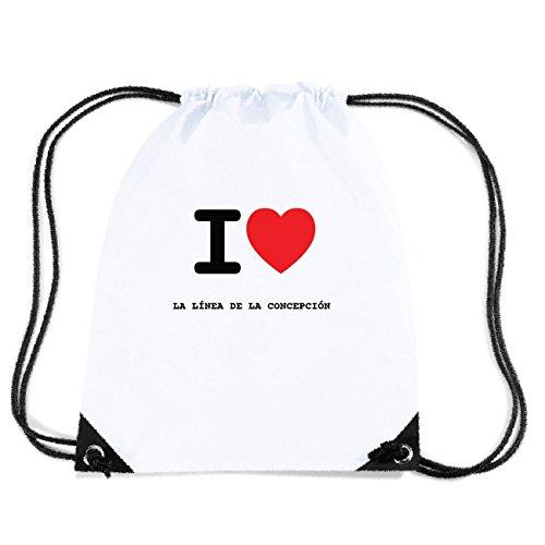 JOllify LA LÍNEA DE LA CONCEPCIÓN Turnbeutel Tasche GYM3594 Design: I love - Ich liebe