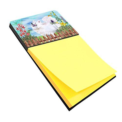 Samoyed Note (Caroline's Treasures Samoyed Spring Sticky Note Holder, Multicolor (CK1253SN))