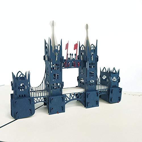 ZXF Tarjeta de felicitación 3D británica de Londres Puente ...