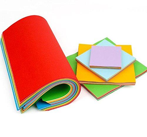 Origami Papier 600 Blätter Bastelpapier geschnittene Faltpapier 7 10 13 15 20 25cm doppelseite 10 färbige Bastelpapier Set für Origami und Bastelprojekte inkl Farben Grün Blau Lila Rot Gelb Pink NaY