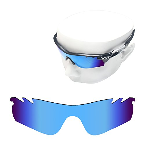 OOWLIT Replacement Sunglass Lenses for Oakley RadarLock Path Vented Blue Mirror - Lenses Replacement Radarlock