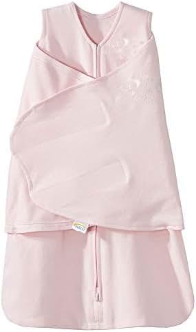 HALO SleepSack 100% Cotton Swaddle, Soft Pink, Newborn