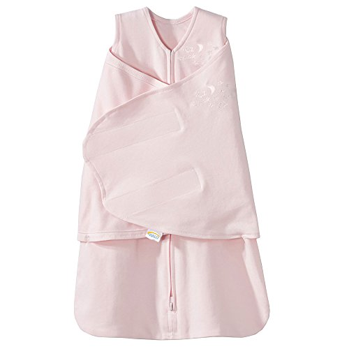 (HALO SleepSack 100% Cotton Swaddle, Soft Pink, Small)