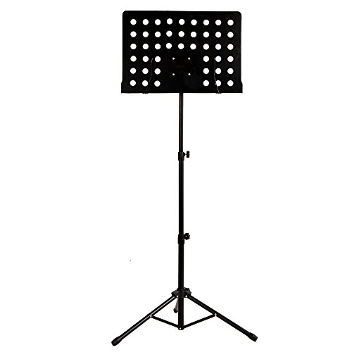 Adjustable Deluxe Orchestra Conductor Music Stand, Black