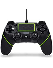 Sefitopher Professional PS4 wired Controller for play station 4/pro/slim/PC/Laptop with Colorful LED indicator, Double vibration and Anti-Slip (Cable Length 6.5ft)(green) …