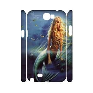 C-Y-F-CASE DIY The Little Mermaid Pattern Phone Case For Samsung Galaxy Note 2 N7100