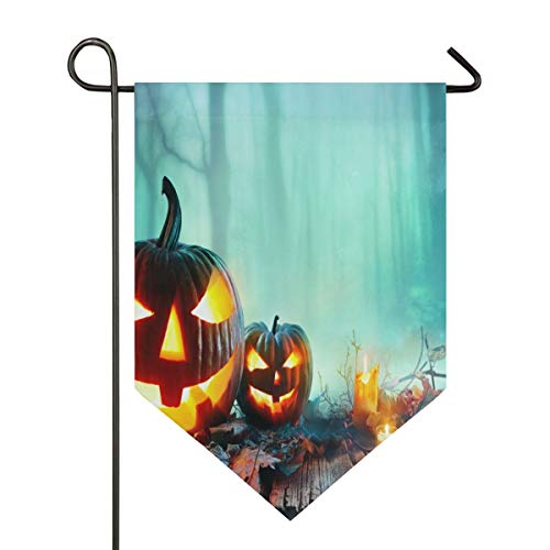 Halloween in North County San Diego Garden Flag Outdoor Banner Decorative Large House Polyester Flags for Wedding Party Yard Home Decor Season Porch Lawn Double Sided 12 x 18.5 inches -