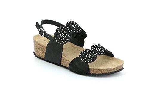 GRUNLAND SB1211 ANIN Sandalo Donna P. Nero