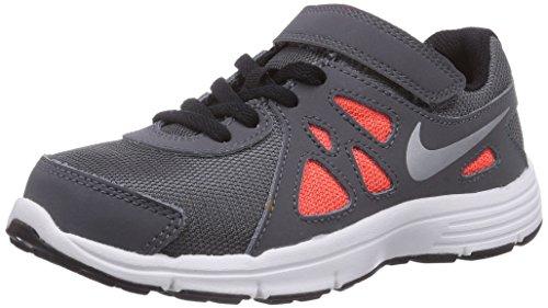 Boy's Nike Revolution 2 Running Shoe (PS) Dark Grey/White/Metallic Silver Size 2 M US (Boys Nike Flex Shoes)