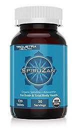 Organic Spirulina & Astaxanthin: Organic SpiruZan® Promotes Total Body Health at the Cellular Level – Purest Organic Ingredients and Maximum Nutrient Density – Neutralizes Oxidative Stress, Inflammation & Restores Alkalinity – USDA Certified Organi