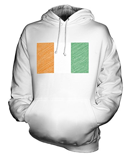 - CandyMix Unisex Ivory Coast Scribble Flag Mens/Womens Hoodie, Size 2X-Large, Color White