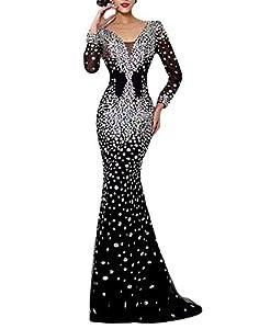 Tsbridal Beaded Mermaid Prom Dresses 2018 Sleeveless Evening Formal Party Dress