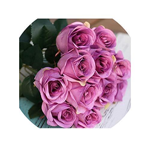 Sweet-Candy artifical flowers Rose Artificial Silk Flower Real