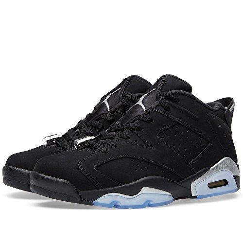 more photos f8b46 3e8aa high-quality Nike Air Jordan Retro 6 Low Chrome Mens Black Metallic Silver