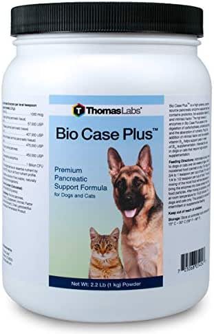Thomas Labs Bio Case Plus - Pancreatic Enzymes for Dogs & Cats - Digestive Supplement 2.2 lbs