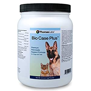 Thomas Labs Bio Case Plus - Pancreatic Enzymes for Dogs & Cats - Digestive Supplement 2.2 lbs 11