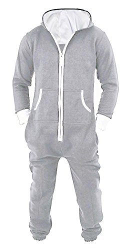 SKYLINEWEARS Men's Unisex Onesie Jumpsuit One Piece Non Footed Pajama Playsuit Medium -