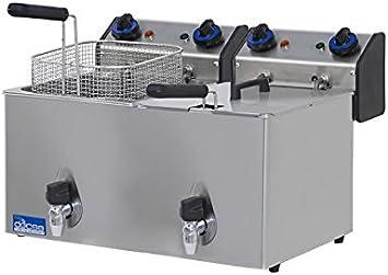Freidora eléctrica de banco Docsa FE102R con válvula de desagüe 2 ...