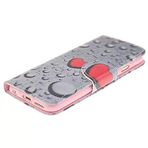"""Coloré Motif PU Cuir portefeuille Housse Etui pour Apple iPhone 6s Plus / iPhone 6 Plus 5.5"""" Case Coque Effacer Protection Flip Cover avec carte de crédit Slots (T14#)"""