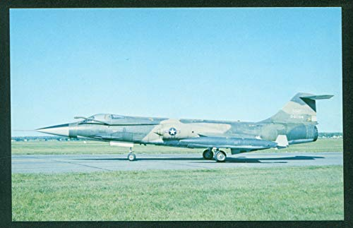 Lockheed F-104 Starfighter Supersonic Jet Fighter Aircraft USAF Airplane Postcard