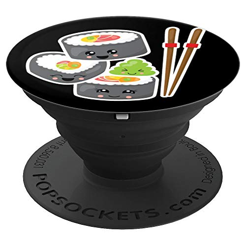 Sushi Wasabi Chopsticks Funny Cute Japanese Anime Food - PopSockets Grip and Stand for Phones and Tablets