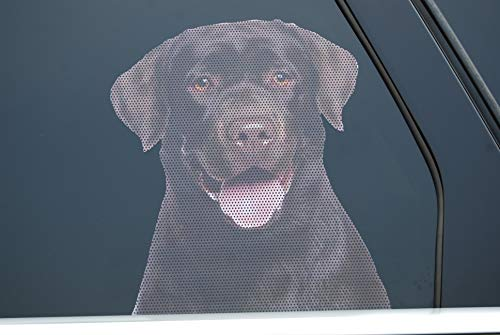 Doggie in the Window car and Truck Window Dog Decal - Chocolate Labrador Retriever