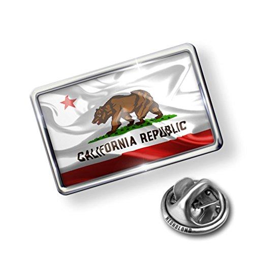 hot sell Pin California 3D Flag region: America (USA) - Lapel Badge - NEONBLOND hot sale
