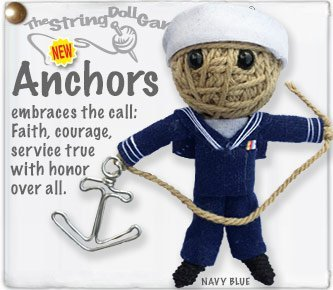 - Kamibashi Anchors the Sailer Original String Doll Gang Keychain Toy