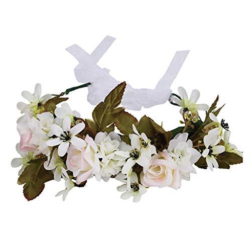 Women's Flower Crown Photography Floral Wreath Headband Garland
