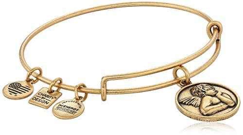 Alex and Ani Women's Charity by Design - Cherub Expandable Charm Bangle Bracelet Rafaelian Gold Bangle Bracelet One Size