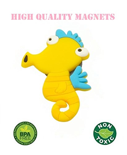 Fridge Magnets for Toddlers Under Sea Ocean Animal Magnets Cartoon Magnetic Fridge Funky Toy for Kids by Happy Cherry (Image #6)