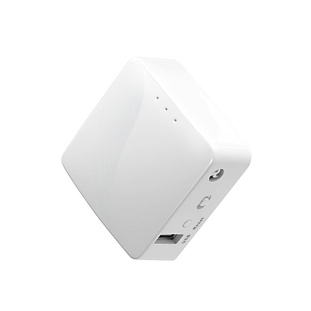 GL.iNet GL-AR150 Mini Travel Router, WiFi Converter, OpenWrt Pre-Installed, Repeater Bridge, 150Mbps High Performance, OpenVPN, Programmable IoT Gateway