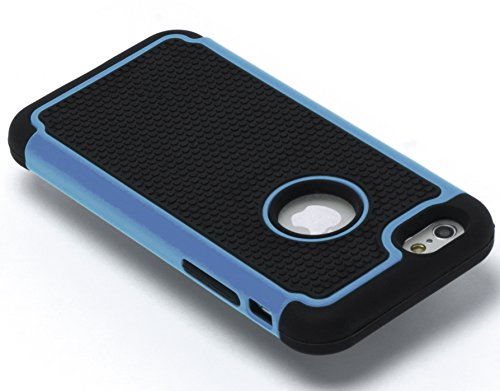 """iPhone 6 Case, Bastex Hybrid Deluxe Blue and Black Rugged Shock Armor Case for Apple iPhone 6, 4.7"""" 6th Generation"""